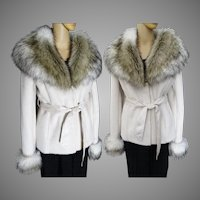 Gorgeous Fox Fur Jacket | Faux Fox Fur | Fluffy Faux Fox Fur | Creme | New Look | Mod Jacket | Elegant |