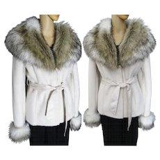 Gorgeous Fox Fur Jacket | Faux Fox Fur | Fluffy Faux Fox Fur | Creme | New Look | Mod Jacket | Elegant |