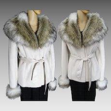 Gorgeous Fox Fur Jacket   Faux Fox Fur   Fluffy Faux Fox Fur   Creme   New Look   Mod Jacket   Elegant  