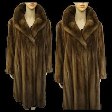 Vintage Mink Coat Real Fur Full Length Soft Sable Mink Old Hollywood Glamour Art Deco Art Nouveau Avant Garde