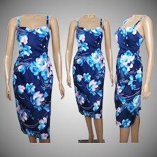 Vintage 1960s Dress | Hawaii Dress | Floral Dress | Sarong Dress | Hourglass Dress | Wiggle Dress | Hawaii Sundress | 60s Dress | Designer