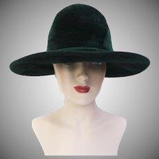 Vintage 1950s Hat | Hunter Green Hat | Designer 1950s Hat | Rockabilly Hat | Femme Fatale | 1950s Hat | 50s Hat | Frank Olive Hat |