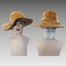 Vintage 1950s Hat   Tan Hat   Stylish 1950s Hat   Femme Fatale   High Style   Designer Hat   1950s Hat   50s Hat  