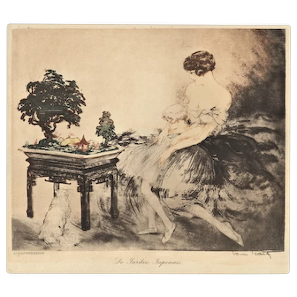 Louis Icart Art Deco Woman