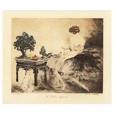 Art Deco Louis Icart Lithograph-Woman