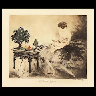 Vintage Art Deco Louis Icart Lithograph