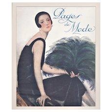 Matted vintage Art Deco Fashion Print 1920s