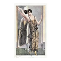 FUN Vintage Art Deco Fashion Print