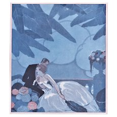 Matted French 1920s Art Deco Print-Lovers