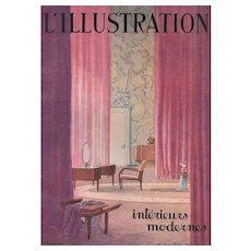 Matted Art Deco Modern Interior Architectural Print 1933