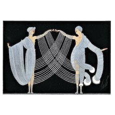 Matted Art Deco Print-Marriage Dance-Erté