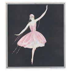 Matted 1922 Art Deco Dance Print-Brunelleschi