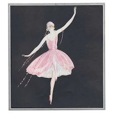 Matted 1922 Art Deco Dance Print-Brunelleschi