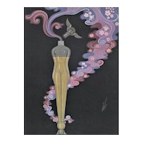 Matted Art Deco Perfume Bottle Print by Erté