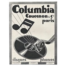 Art Deco 1929 French Music Advertisement Print
