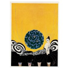 Matted French 1926 Art Deco Erté Print
