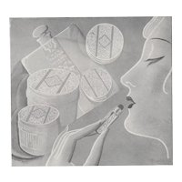 1928 French Art Deco Print for Beauty Products