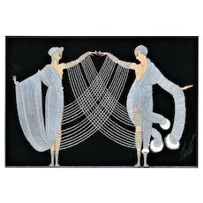 """Art Deco """"Marriage Dance"""" print by Erté"""