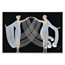 Matted Vintage Art Deco Print-Marriage Dance by Erte