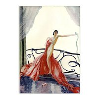 Vintage French Art Deco Fashion Nude