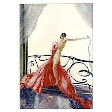 Vintage French Art Deco Fashion Nude