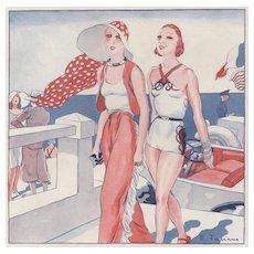 Art Deco Bathing Beauties Print