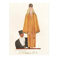 Original Vintage Art Deco fashion print by LePape