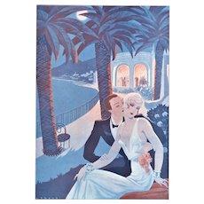 Vintage Valentine Art Deco lovers print