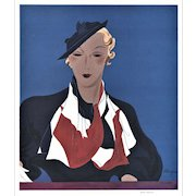 Art Deco Women's Fashion Print