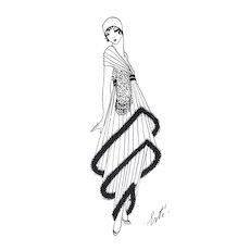 Art Deco Fashion print by Erté