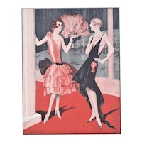 Matted French Art Deco 1930 Fashion Print-Fashion Beauties