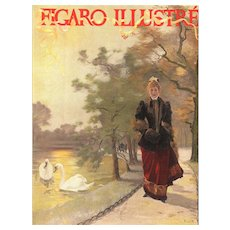 Art Nouveau woman at lakeside print - Red Tag Sale Item