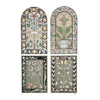 LARGE Vintage c1880 Art Nouveau Floral Design Lithograph