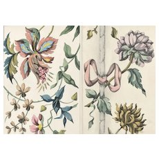 PAIR Art Nouveau Botanical Floral Decorative Design Chromolithographs