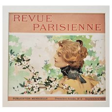 RARE 1899 Original French Art Nouveau Pretty Woman