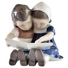 Copenhagen Porcelain-Children Reading