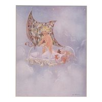 Pair 1929 Matted Children's Prints-Bedtime