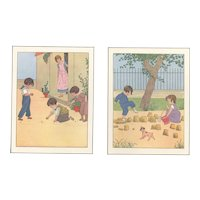 Pair-1934 prints Children at Play