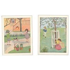 Pair-1934 prints Children at Play