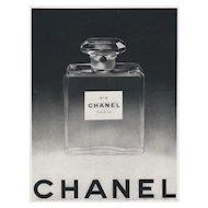Original French Vintage CHANEL No.5 Perfume Print