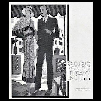 Matted Chanel Art Deco Fashion Print