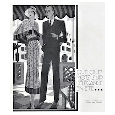 Matted Chanel Art Deco Fashion Print
