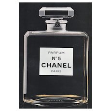 Matted Vintage Iconic Chanel No5 Perfume Advertisement Print
