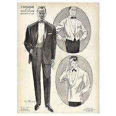 RARE vintage men's tuxedo fashion