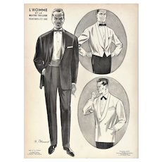 RARE vintage men's tuxedo fashion