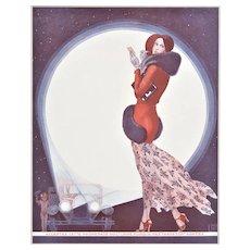 Art Deco French 1930 Fashion Print-