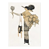 Vintage French Art Deco Fashion Print