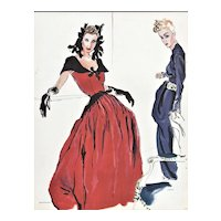 RARE 1939 Balenciaga & Lanvin Dress Designs