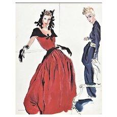 RARE 1939 Balenciaga & Lanvin Dress Designs