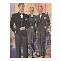 Art Deco Men's Fashion-Tuxedo Print